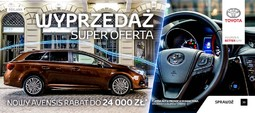 Avensis Digital Campaign for Toyota Motor Poland